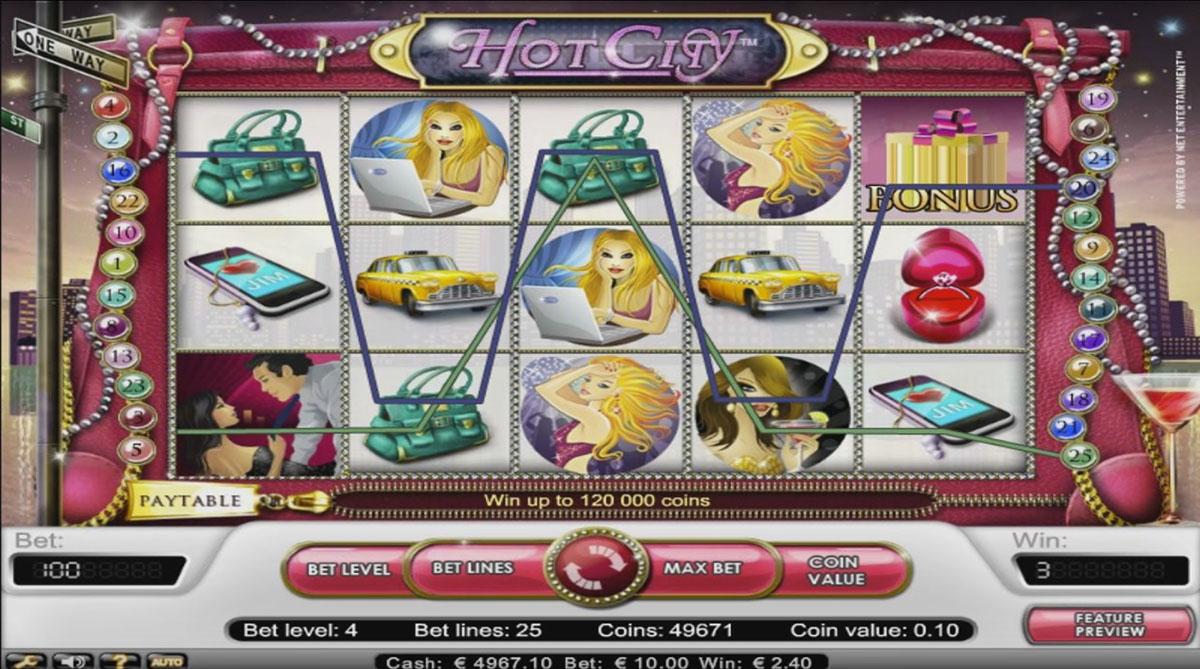 игровой автомат hot city netent