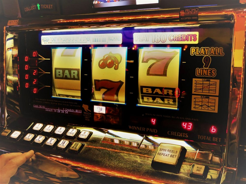 The first slot machines: one-armed bandits
