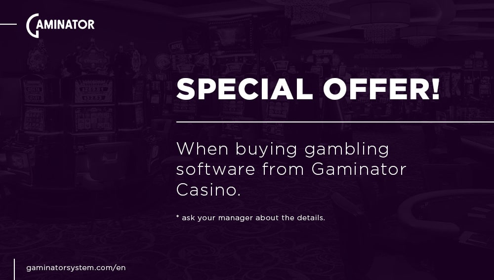Casino management software: special offer