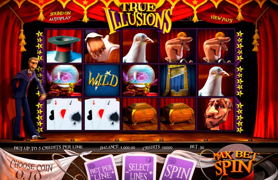 True Illusions: игра казино от производителя Betsoft
