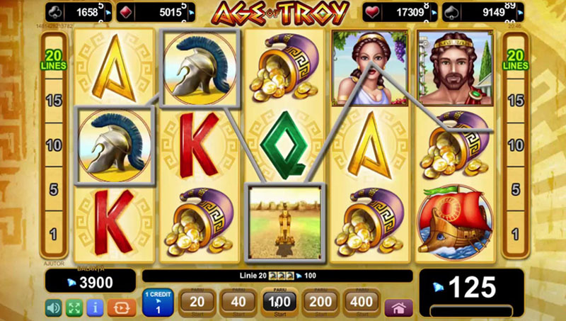 EGT - Age of Troy slot machine HTML5