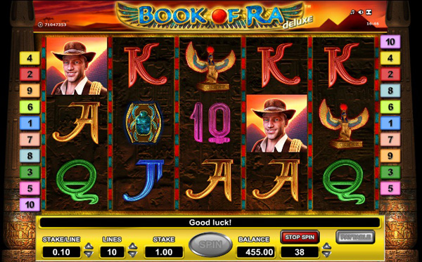 Book of Ra Deluxe slot machine from Gaminator Deluxe