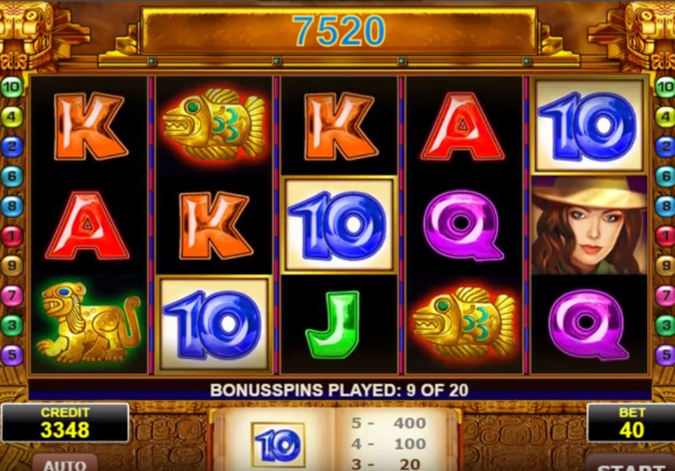 Book of Aztec slot game from Amatic
