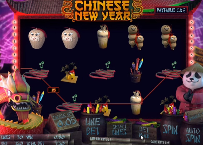 Chinese New Year online slot from  Sheriff Gaming