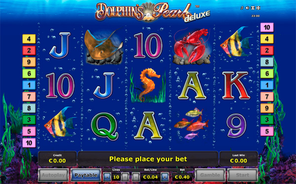 Dolphin's Pearl Deluxe online slot from Gaminator Deluxe