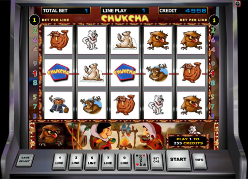 Chukchi Man slot machine from Duomatic