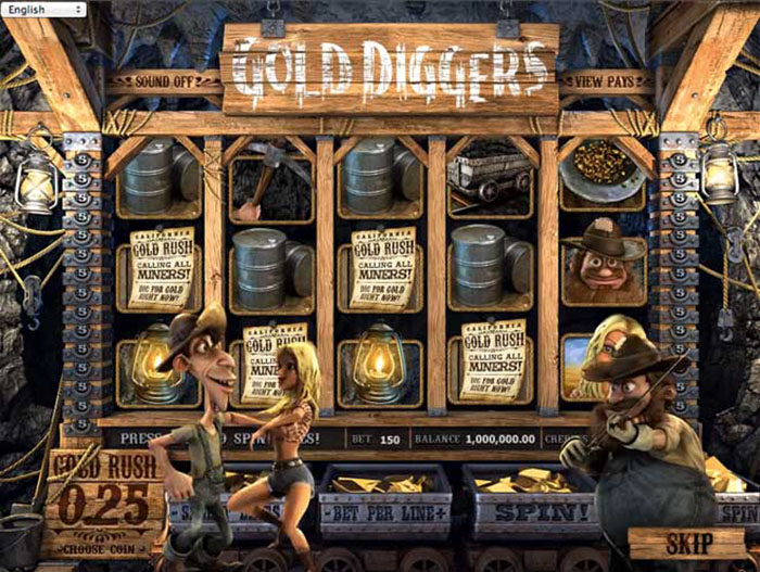 Gold Diggers online slot from BetSoft
