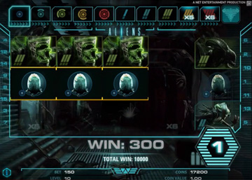 Aliens slot machine from NetEnt