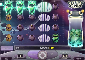 Space Wars gaming slot from NetEnt