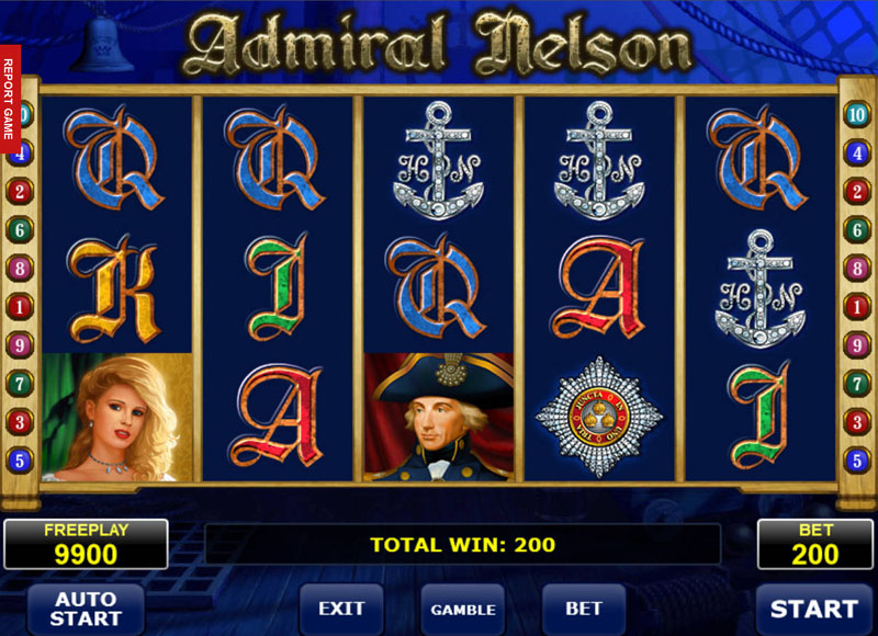 Admiral Nelson slot machine from Amatic