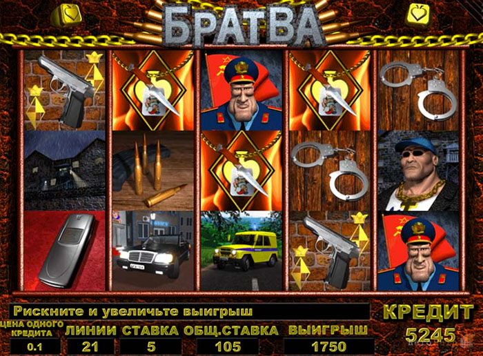 The video slot Bratva from Unicum