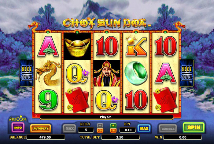Choy Sun Doa online slot from Aristocrat