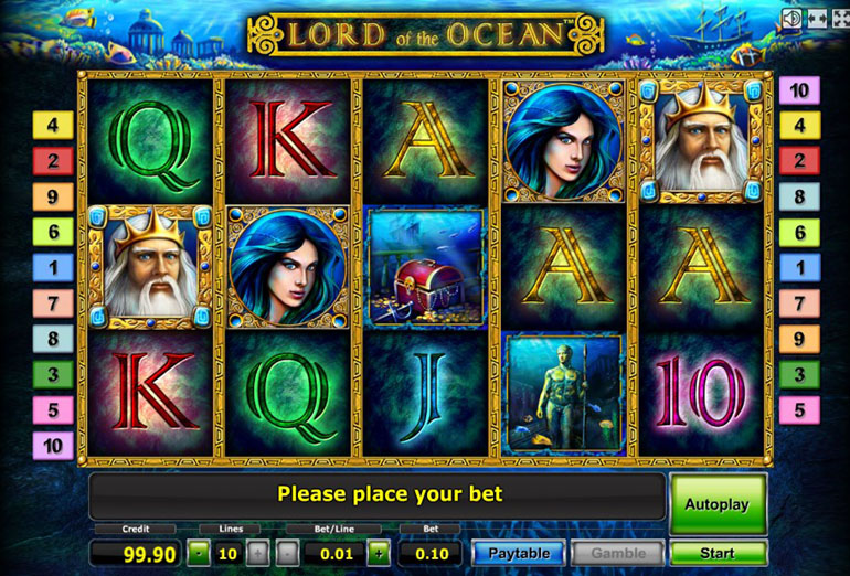 Lord of the Ocean online slot from Gaminator BTD