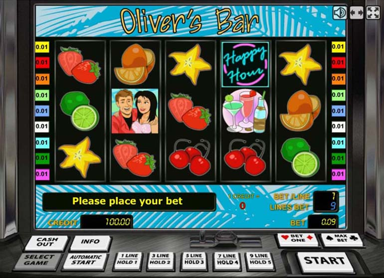 Oliver's Bar slot machine from Gaminator BTD