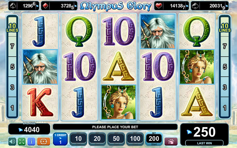 Online slot game from EGT - Olympus Glory