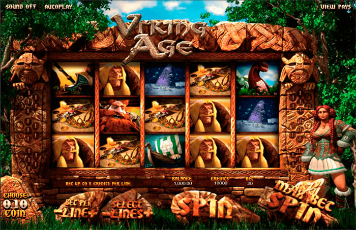 Vikings Age video slot from BetSoft