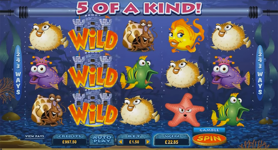 слот Microgaming - Fish Party Sit & Go, скриншот 1