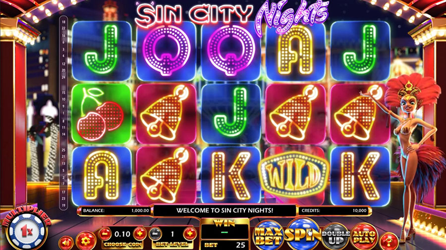 Betsoft Gaming - Sin City Nights, скриншот 1