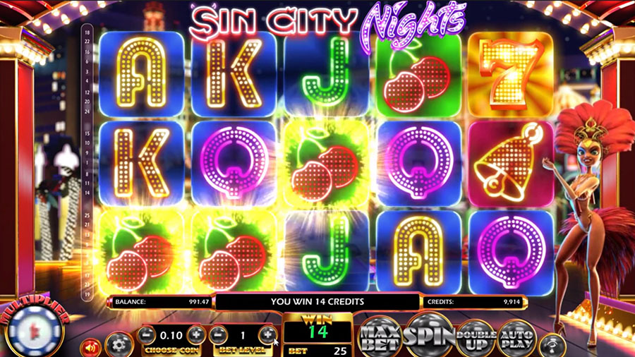 Betsoft Gaming - Sin City Nights, скриншот 2