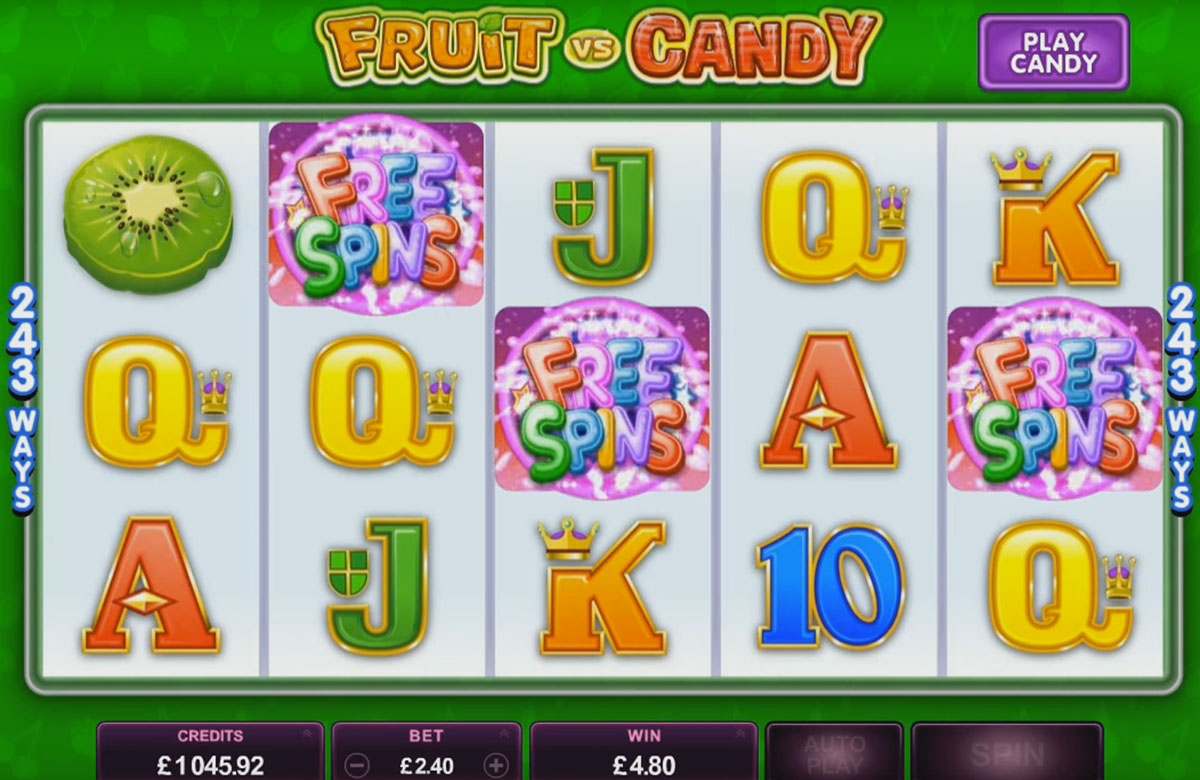 Microgaming - Fruit vs Candy, скриншот 2
