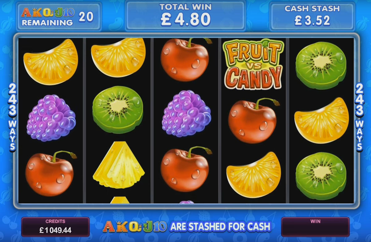 Microgaming - Fruit vs Candy, скриншот 3