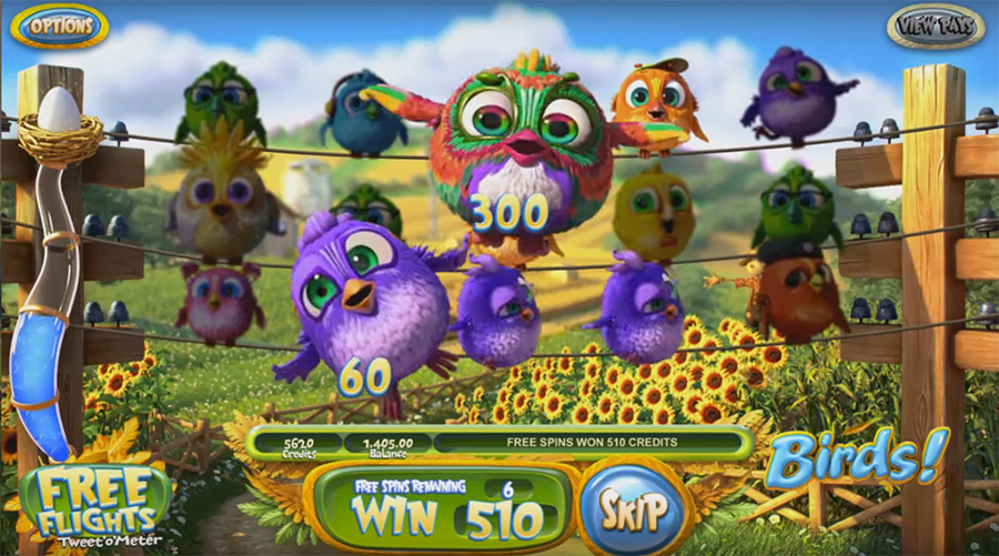 онлайн-слот Betsoft Gaming - BIRDS!